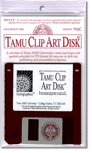 TAMU Clip Art Disk - front packaging design