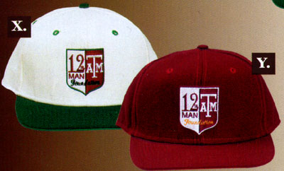 12th Man logo hats